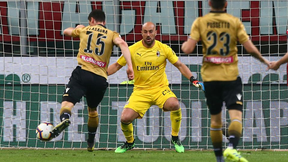 Lasagna (Udinese) segna il gol del pareggio ©