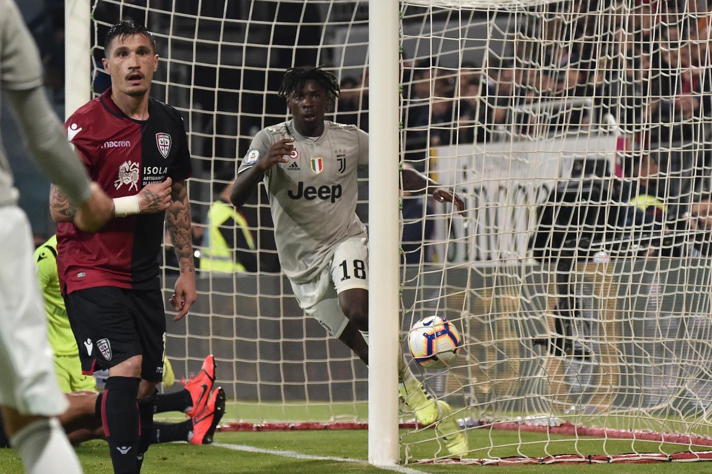 Bonucci e Kean, la Juve incerottata passa anche a Cagliari: 0-2
