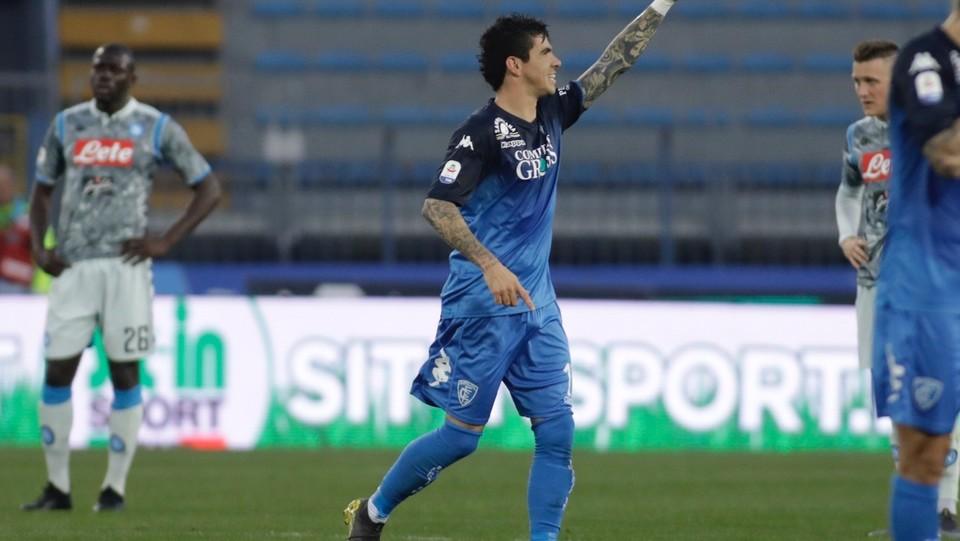 Diego Da Silva Farias (Empoli) esulta dopo aver segnato il gol del 1-0 ©