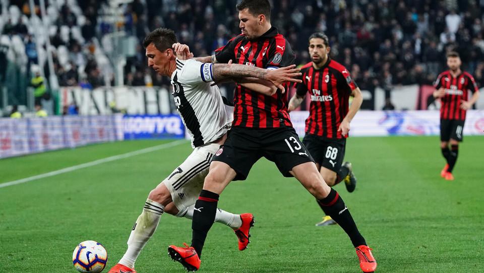 Mandzukic (Juventus) e Romagnoli (Milan) ©