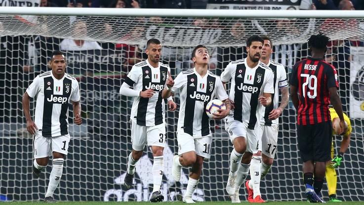 Serie A, Juve rimonta Milan e vede scudetto: Dybala-Kean stendono Diavolo