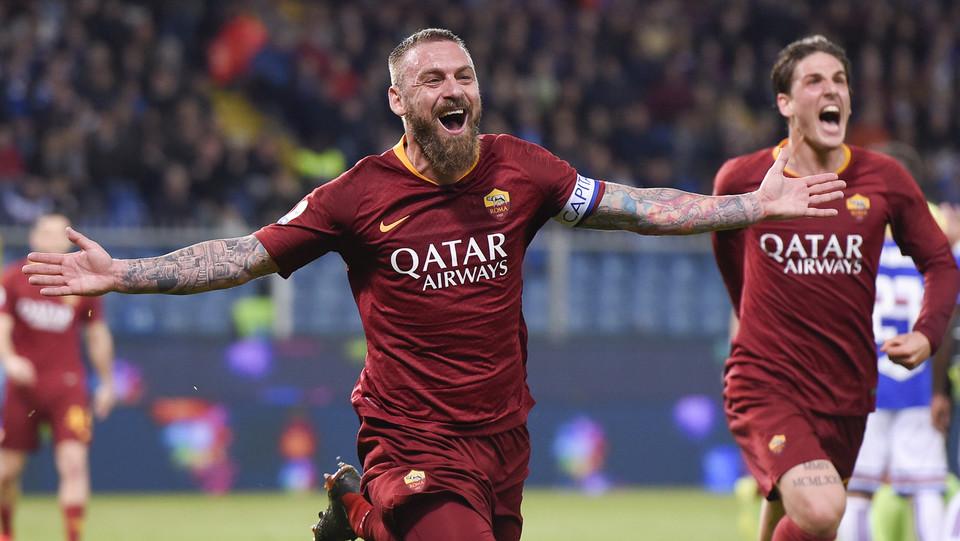 La gioia di De Rossi dopo il gol ©