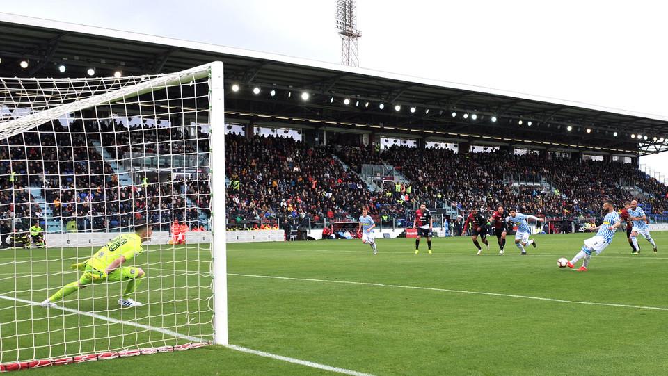 Il gol di Mirco Antenucci (Spal) su calcio di rigore ©