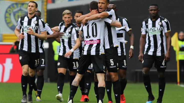 Serie A, Udinese corre verso salvezza: gol e emozioni, 3-2 all'Empoli