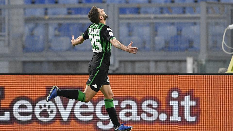 L'esultanza di Domenico Berardi dopo il gol 1-2 ©