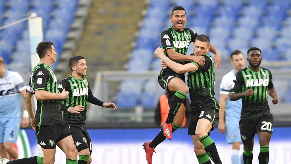 La gioia del Sassuolo dopo il gol ©