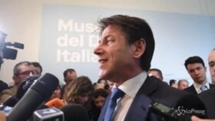 """Conte: """"Flat tax è nel governo, non è solo Salvini a spingere"""""""