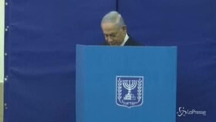 Isreale al voto: all'urna anche il primo ministro Netanyahu