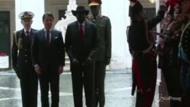 Conte riceve il presidente del Sud Sudan