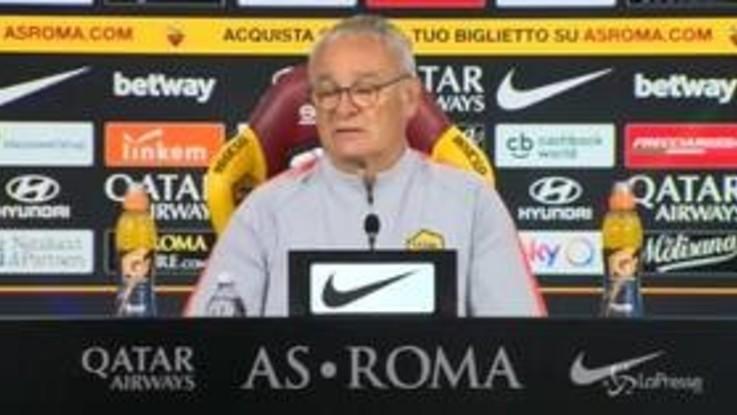 """Roma, Ranieri: """"Vogliamo la Champions, i tifosi ci aiutino. Totti? L'uomo della rinascita"""""""
