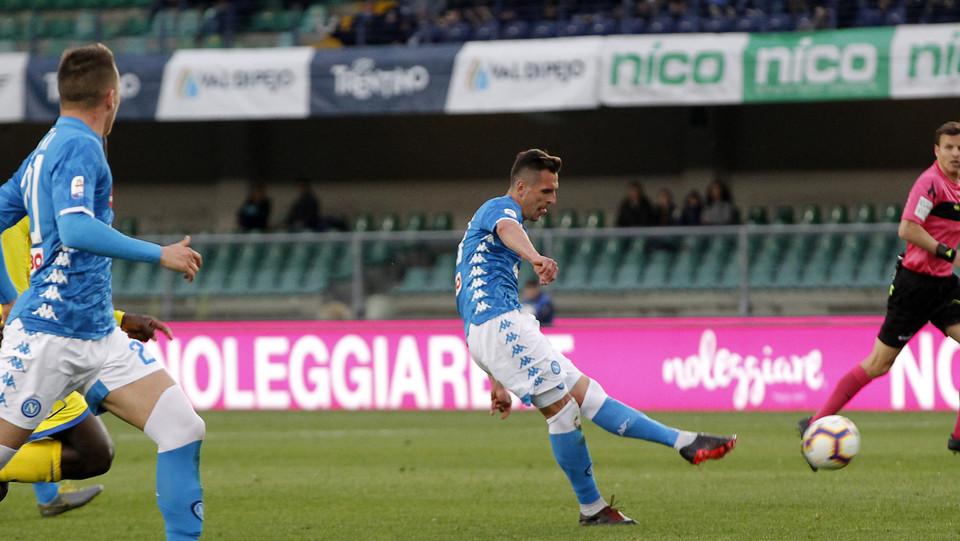 Milik segna il gol dello 0-2 ©