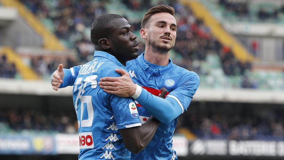 Koulibaly firma anche il terzo gol del Napoli ©