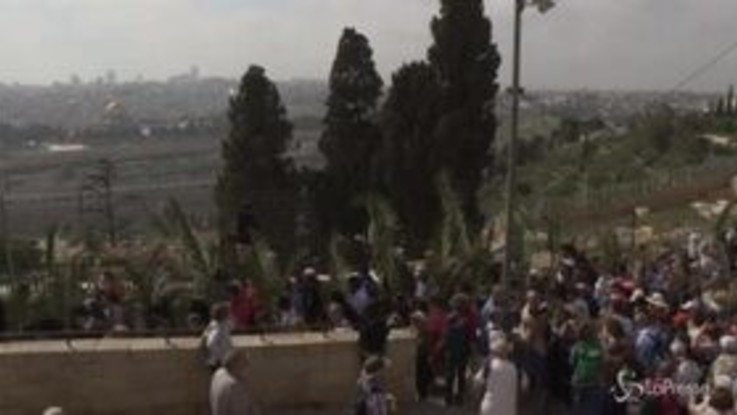 Domenica delle Palme, migliaia di cristiani a Gerusalemme