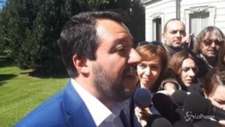 """Roma, Salvini: """"Se si votasse domani non consiglierei i Cinque Stelle"""""""