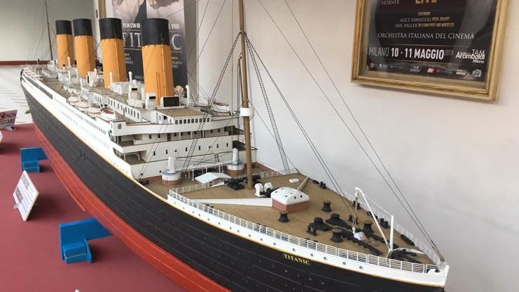 Il Titanic rivive a Milano: un'enorme riproduzione per il cine-concerto del film