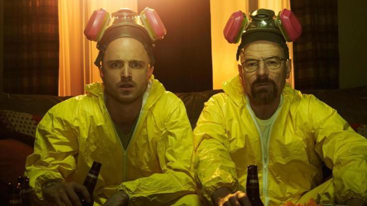Jesse Pinkman (Aaron Paul) e Walter White (Bryan Cranston) in 'Breaking Bad'