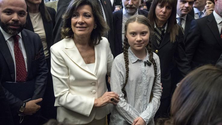 """Greta in Senato: """"Ci avete mentito e rubato il futuro"""". Casellati: """"Dobbiamo voltare pagina"""""""