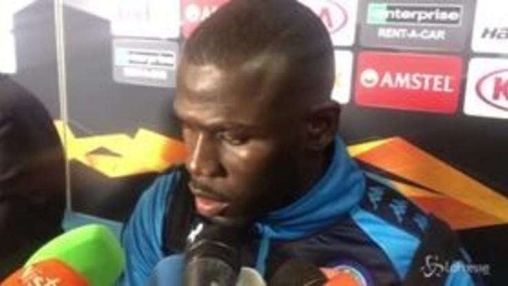 """Europa League, Koulibaly deluso: """"Dovremo avere più rabbia per fare dei gol"""""""