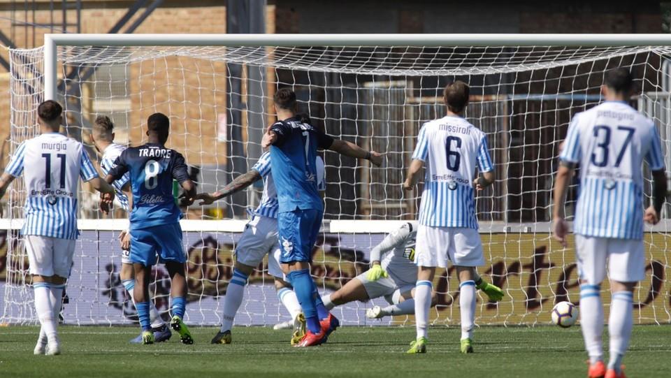 Junior Traore segna il gol del 2-2 ©