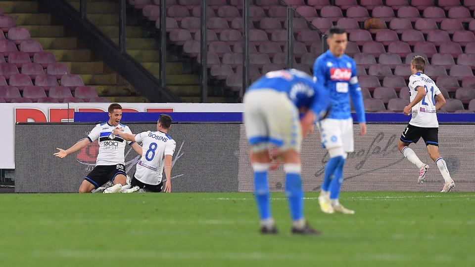 Esultano i bergamaschi dopo il gol della vittoria ©