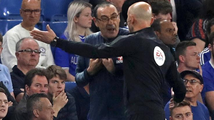 """Insulto a Sarri da un tecnico del Burnley: """"Italiano di m...."""""""