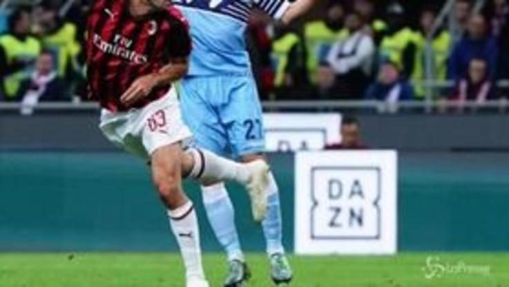 Coppa Italia, la Lazio batte il Milan e vola in finale