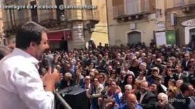 """25 aprile, Salvini: """"È giusto festeggiare la liberazione ma il mio compito è combattere la mafia"""""""