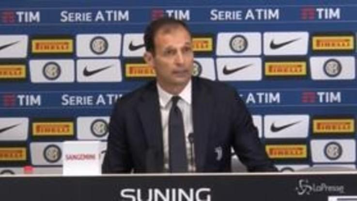 """Inter-Juve, Allegri: """"Giusto il pari, Ronaldo ha giocato da Ronaldo"""""""