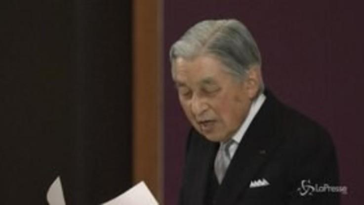 """Giappone, Akihito: """"Terminano i miei doveri di imperatore"""""""