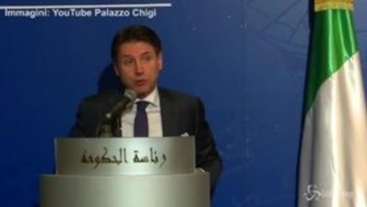 """Libia, Conte: """"Con Haftar buoni rapporti, ma no a intervento militare"""""""