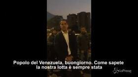 """Venezuela, il messaggio di Guaidó: """"L'esercito ha risposto alla nostra chiamata"""""""