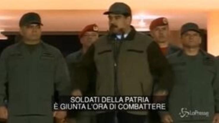 "Venezuela, Maduro ai soldati: ""È ora di combattere"""