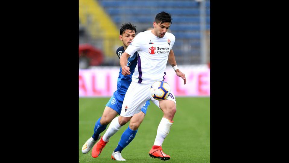Veseli (Empoli) e Simeone (Fiorentina) ©