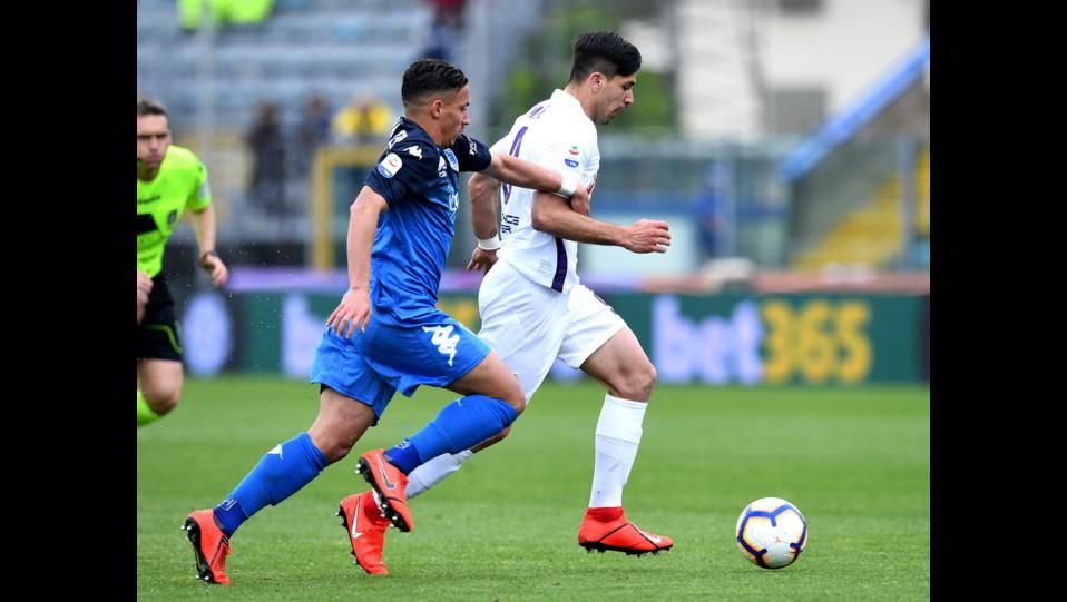 Bennacer (Empoli) e Simeone (Fiorentina) ©