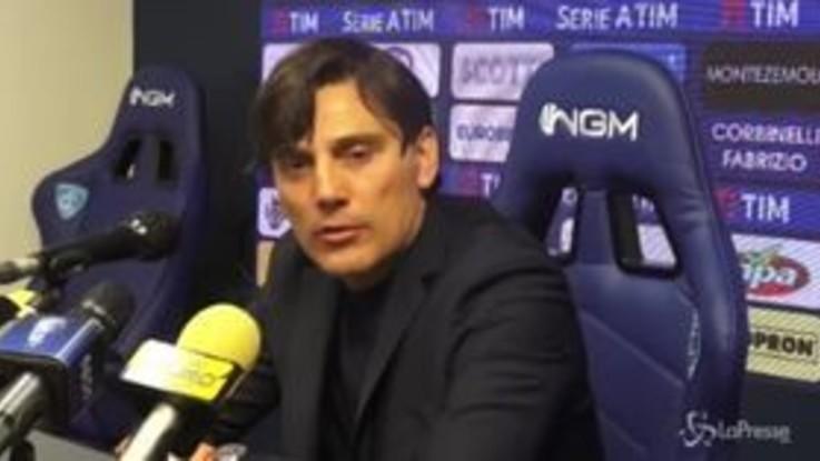 """Fiorentina, Montella: """"Risultati deludenti, prestazioni no"""""""