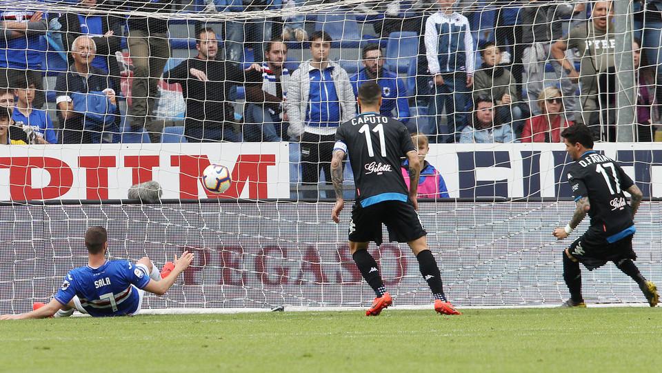 Farias realizza il gol del 0-1 ©