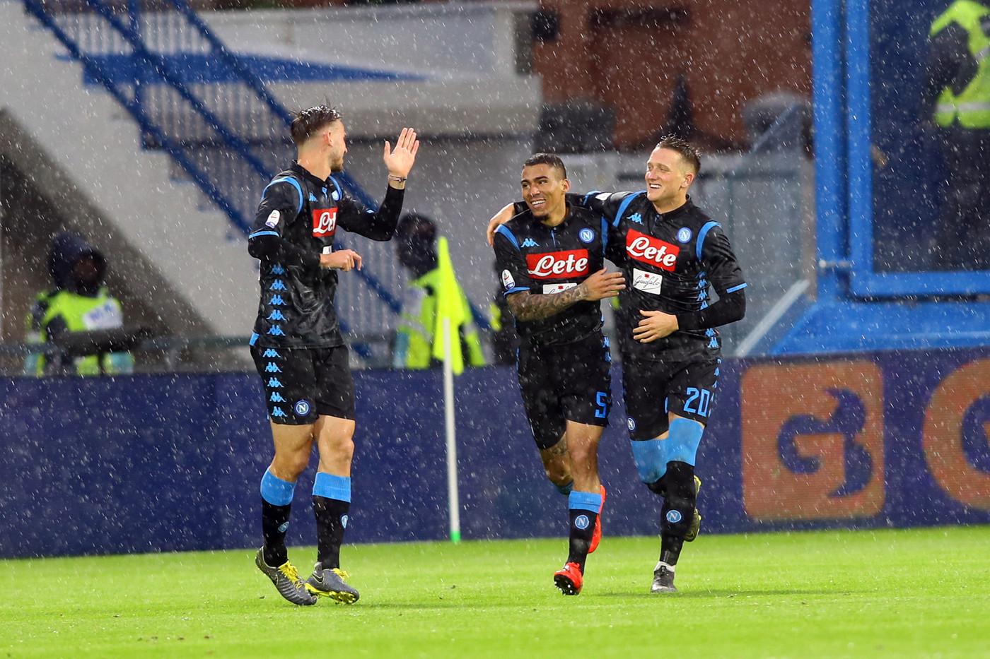 Serie A, Napoli supera Spal 2-1: Mario Rui decisivo nel finale