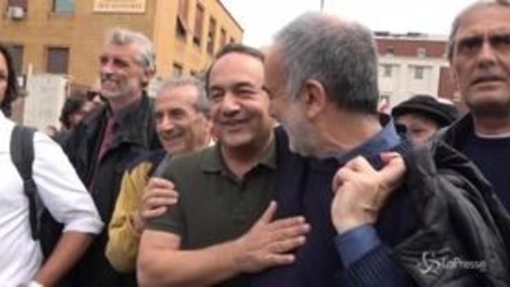 """Mimmo Lucano alla Sapienza: """"Clima d'odio alimentato anche da Salvini"""""""
