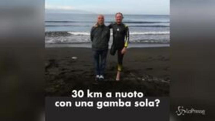 L'impresa dell'atleta disabile Salvatore Cimmino: 30 km a nuoto contro le barriere architettoniche