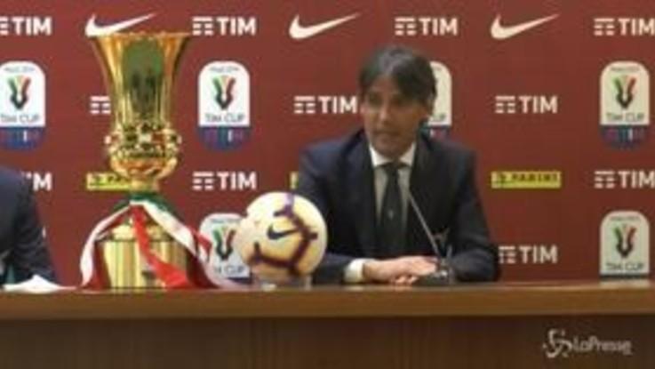 """Lazio, Inzaghi: """"Vogliamo sollevare la Coppa Italia davanti ai nostri tifosi"""""""