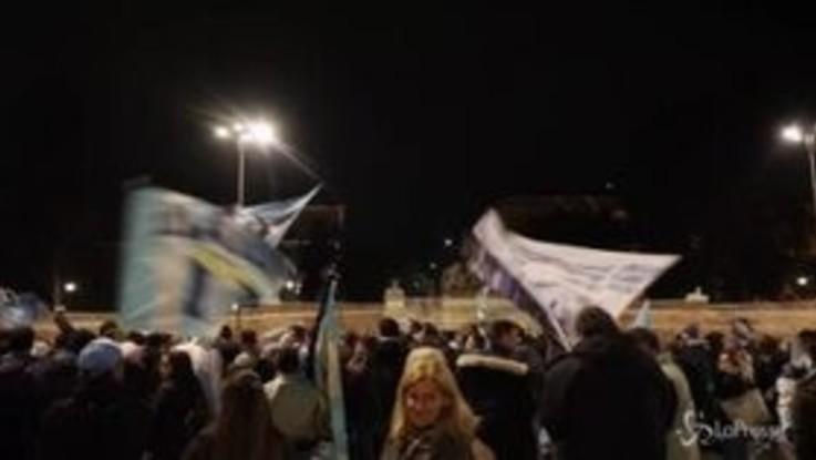 La Lazio vince la Coppa Italia e le strade di Roma si colorano di biancoceleste