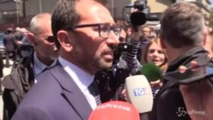 """Bonafede su voli di stato Salvini: """"No comment, sapete qual è lo stile del M5S"""""""