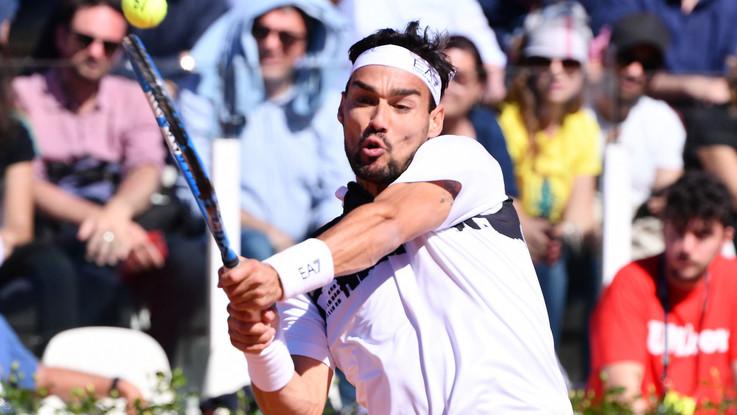 Tennis, a Roma solo Fognini va. Stop per Berrettini, Cecchinato e Sinner