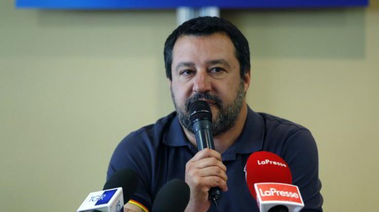 """PoliticaPresse, Salvini: """"Se lunedì non c'è il sì in cdm al dl sicurezza mi arrabbio"""""""