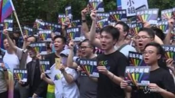 Taiwan legalizza le nozze gay: gli attivisti manifestano in piazza