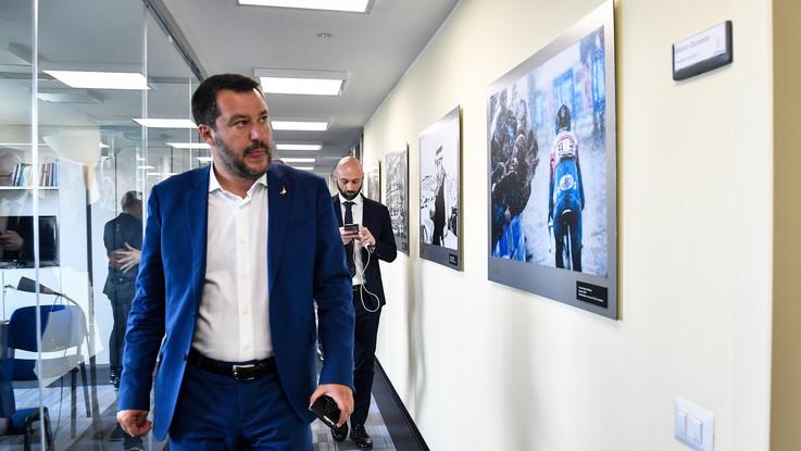 PoliticaPresse, le immagini della visita di Matteo Salvini