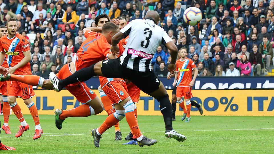 Udinese subito in vantaggio con il gol di Samir ©