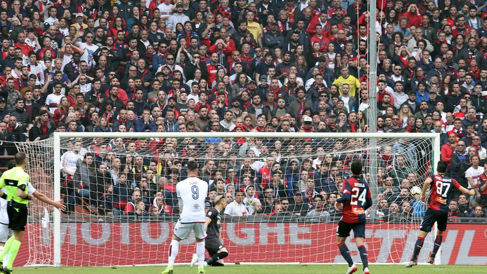 Il gol di Pavoletti (Cagliari) ©