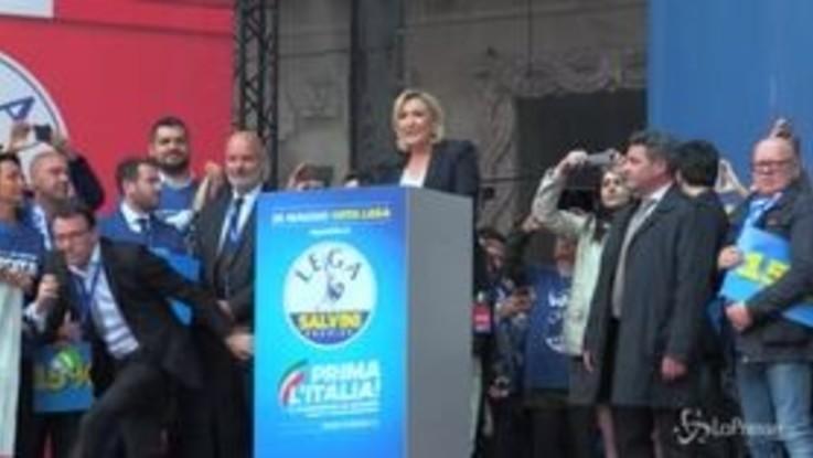"""Manifestazione sovranisti, Le Pen: """"Atto fondativo della rivoluzione pacifica democratica"""""""