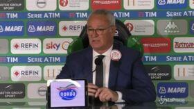 """Ranieri: """"Ci abbiamo provato, ora cerchiamo un posto in Europa League"""""""